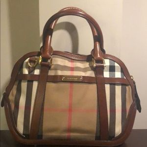 Burberry Bags - BURBERRY Sartorial House Brown Ochre Bowling Bag